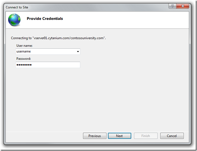 Provide_Credentials_dialog_box