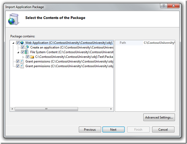 Select_the_Contents_of_the_Package_dialog_box